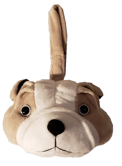 Bull Dog - Plush Bag Dispenser
