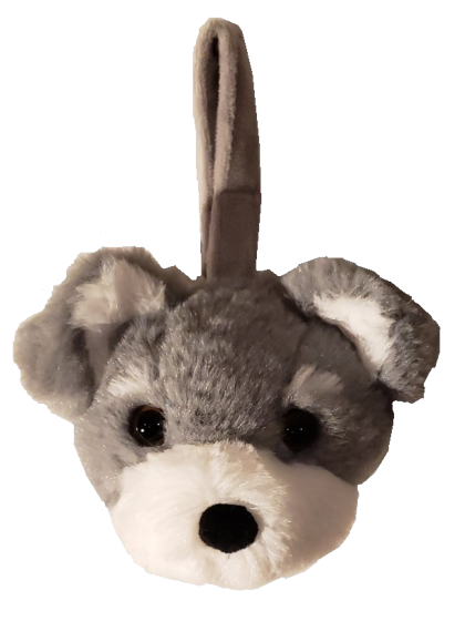 Schnauzer - Plush Bag Dispenser